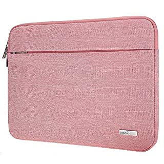 "Lacdo 15.6 Inch Laptop Sleeve Computer Case for 15.6"" Acer Aspire/Predator, Asus TUF FX505DT, Lenovo Ideapad 330, Dell Inspiron, ASUS ZenBook/VivoBook, HP Pavilion Chromebook Notebook Bag, Pink"