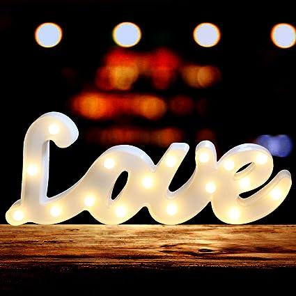 Amazon.com: Oycbuzo - Letras luminosas LED, letras negras ...