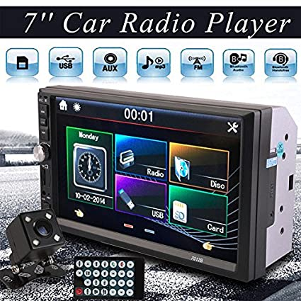 Sedeta 7 Pulgadas 2DIN Car MP5 Player Receptor Estéreo del Coche de la Radio HD de la Pantalla Táctil de Bluetooth sin Cámara Trasera