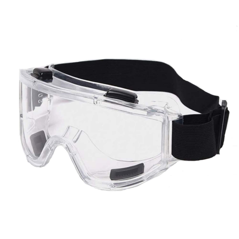 Gafas de seguridad HD Clear Gafas de seguridad ajustables Gafas de protección contra salpicaduras de químicos Resistente al impacto Gafas de seguridad Anti-niebla Anti-polvo Anti-UV