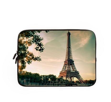 Funda para ordenador portátil Bolso Paris Eiffel portátil funda, Lovely funda para portátil, MacBook