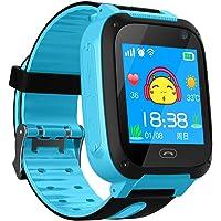 CNluca S4 Pulsera Inteligente con Linterna Cámara remota Pantalla táctil Reloj Inteligente Llamada de teléfono SOS Rastreador de GPS Reloj para niños SIM