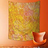 aolankaili Tapestry Mystic House Decor,Vivid Postmodern Pattern with Swirls Authentic Assemblage of Boho Design Multi Bedroom Living Room Dorm Wall Hanging Tapestry