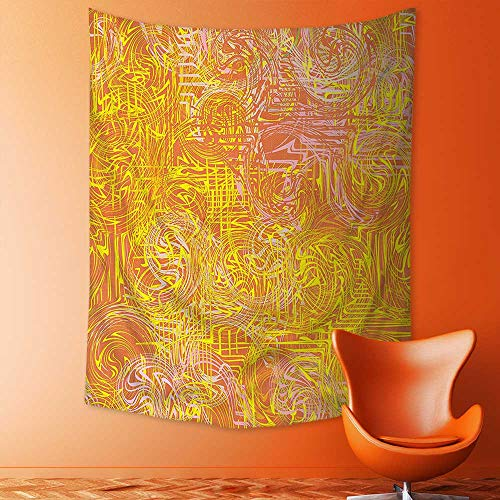 aolankaili Tapestry Mystic House Decor,Vivid Postmodern Pattern with Swirls Authentic Assemblage of Boho Design Multi Bedroom Living Room Dorm Wall Hanging Tapestry by aolankaili