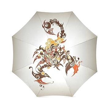 ZLF & # x306e; Amor personalizados arte Scorpion plegable paraguas