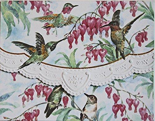 Carol Wilson Fine Arts Inc Hummingbirds Blank 10 Card Set Portfolio