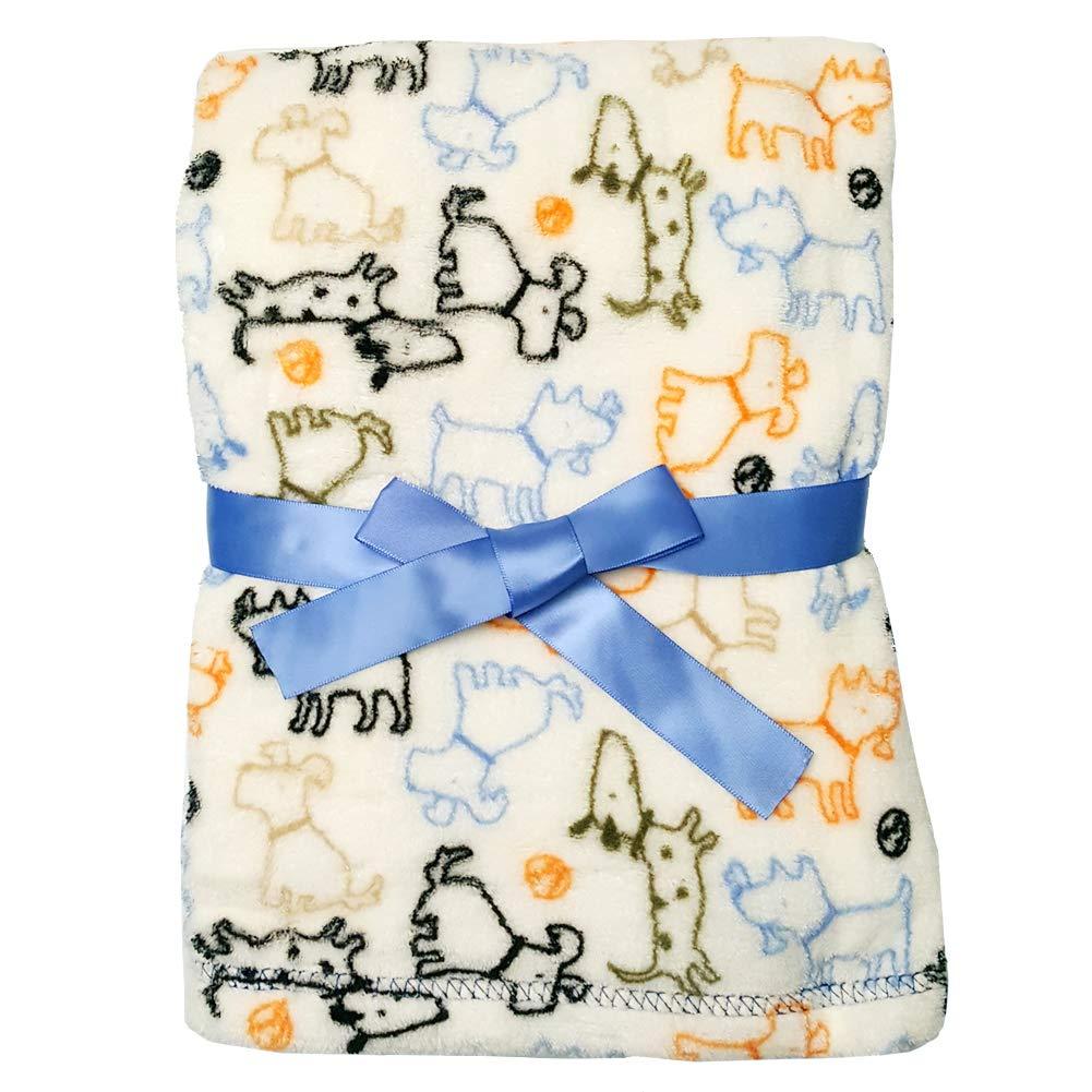 Baby Gear Plush Velboa Ultra Soft Baby Blanket 30 x 40 Gray Elephants