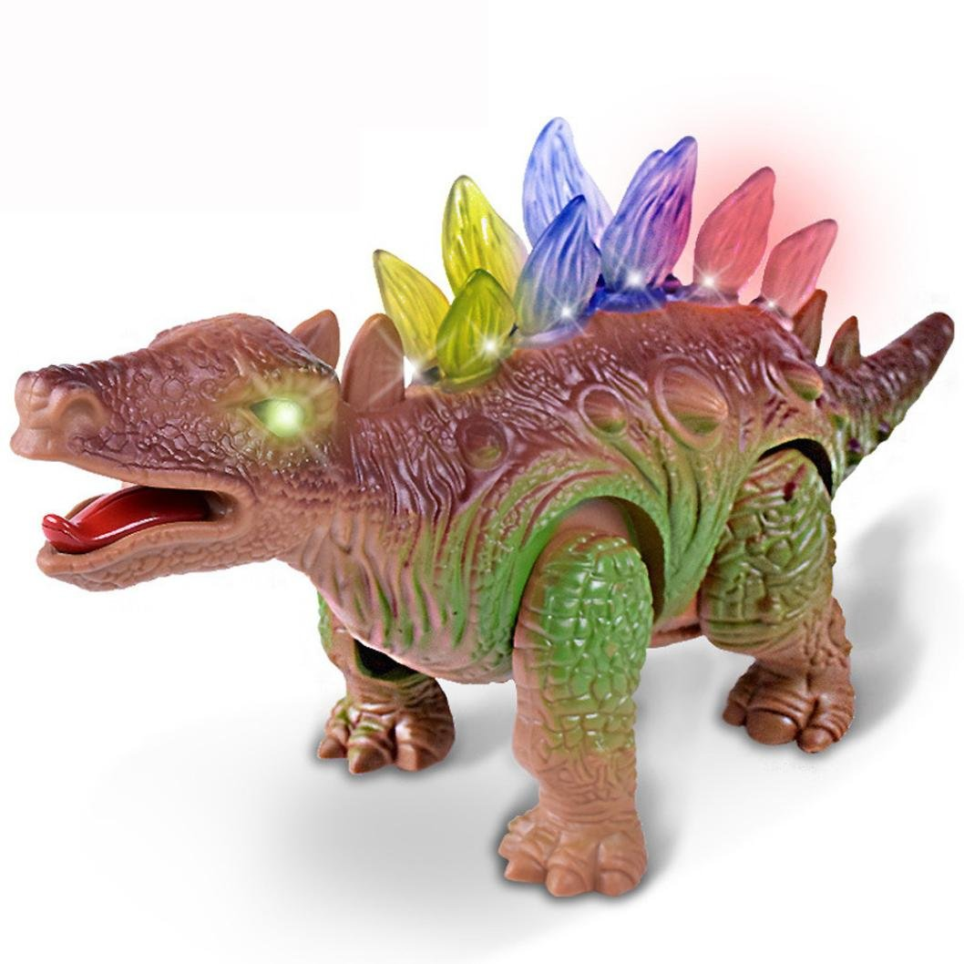 Shybuy Triceratops Toy For Boys and Girls Over 3 Years Old - Dinosaur With Awesome Roar Sounds, Lights & Movement LYT-40024