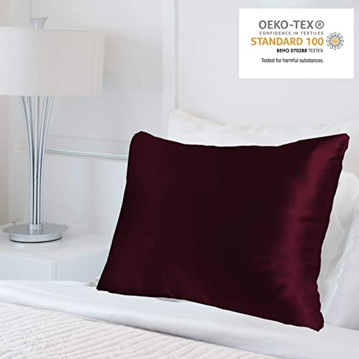 100/%Polyester anti-age Pillowcase Luxurious 25 Momme Standard Queen Home Bedding
