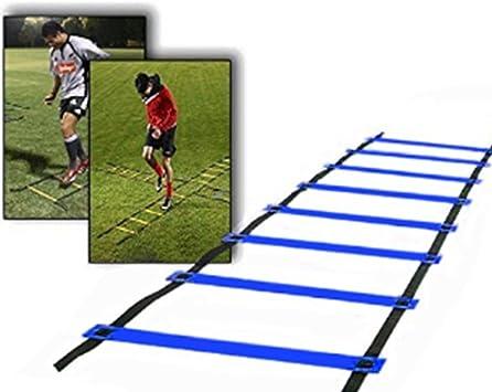 Escalera rápida de entrenamiento de velocidad para fútbol (5 m), 9 ...