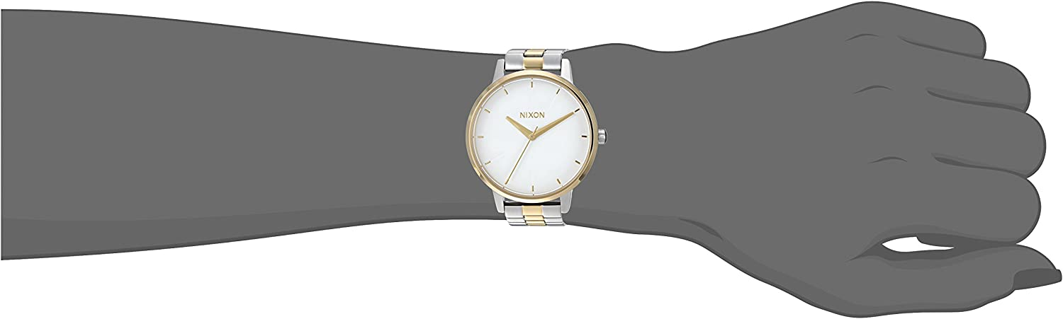 Nixon Kensington A099. 100m Water Resistant Women's Watch (37mm Watch Face. 16mm Stainless Steel Band) Silver/Gold/White