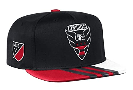 half off 0d9cd 9c506 Image Unavailable. Image not available for. Color  adidas DC United MLS  2017 Authentic Team Performance Snap Back Hat - Black