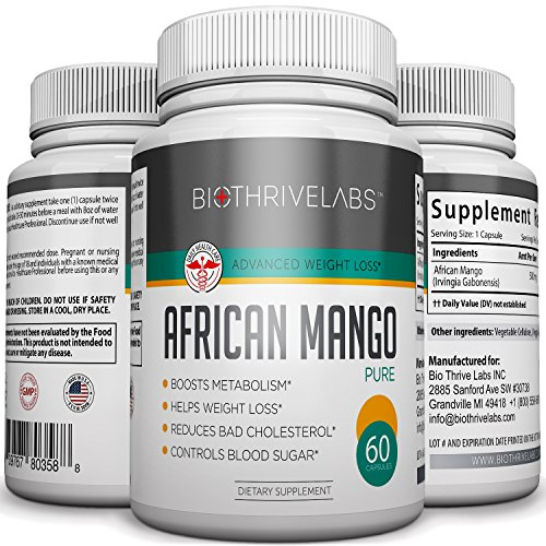 Complément de mangue africaine pure pilules 500mg - 60 Capsules végétariennes - formule de perte de poids rapide - puissant brûleur de graisse. Réduit le cholestérol et contrôle de la glycémie. Meilleur choix pour les femmes et les hommes !