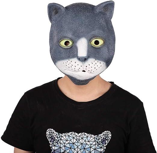 QAZXSW Fiesta de Disfraces de Halloween Máscara de Cabeza de Látex ...