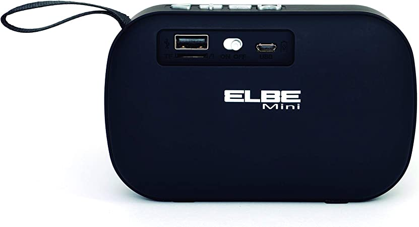 Elbe Alt-N10-BT - Altavoz Bluetooth Mini con Función Manos Libros, Altavoz Compacto, Radio Autoscan, USB Micro SD, Batería Litio Recargable 300 Mah, Color Negro: Amazon.es: Electrónica