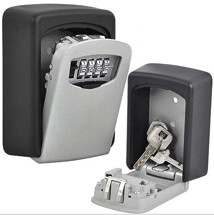 nuzamas Key Lock caja grande caja de almacenamiento, Capacidad para hasta 5 teclas para exterior