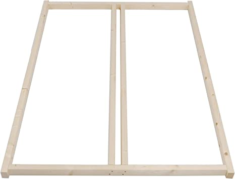 Estructura de madera natural Tuga Holztech para somieres para cualquier cama no apilable, incluye tornillos. Adecuada también para somier bajo