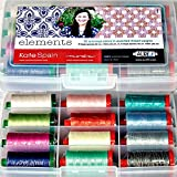 Elements by Kate Spain Thread Kit 8 50wt (1422 yard) & 4 40wt (1094 yard) large spools Aurifil