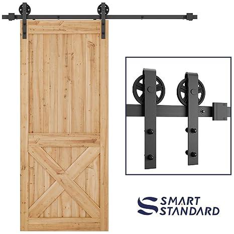 Amazon Smartstandard Heavy Duty Sliding Barn Door Hardware Kit
