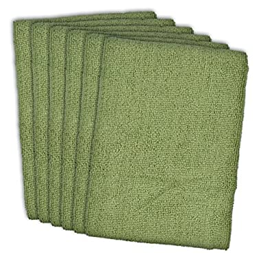 DII Cleaning, Washing, Drying, Ultra Absorbent, Microfiber Dish Towel, 16x19  (Set of 6) - Sage
