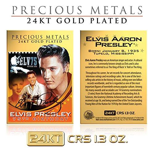 ELVIS PRESLEY 24KT Gold Plated Precious Metals Card CRS 1.3 oz Birthday ()