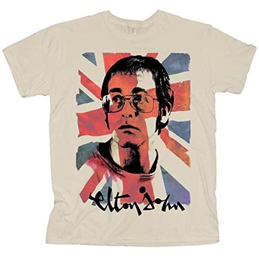 4b7c7da4d54 Amazon.com  Elton John Portrait Piano Rock Official Tee T-Shirt Mens ...