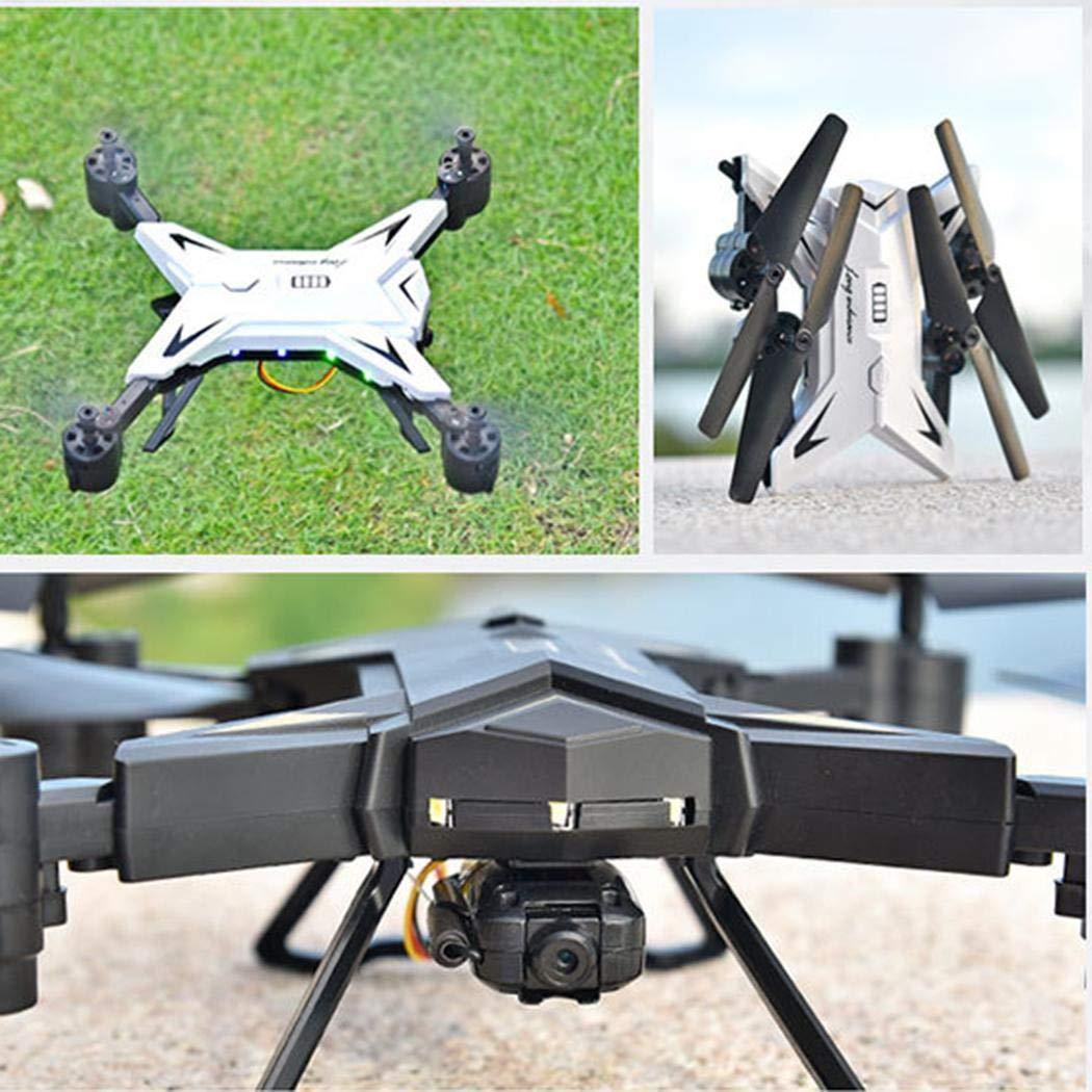 yagot Quadricottero Pieghevole Drone Velivoli Aerei telecomandati in Tempo Reale Fotografia Quadcopter Aerei telecomandati (Standard, 30W, 500W) (Standard Bianco)
