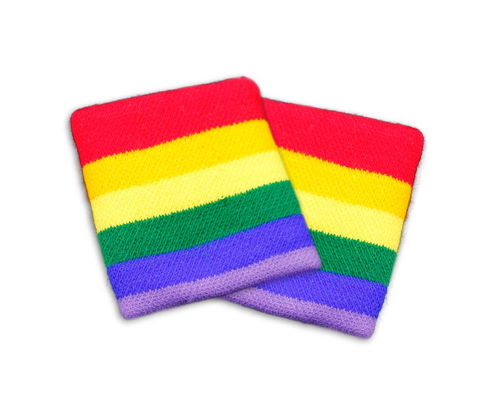 Fundraising For A Cause Rainbow Sport Sweat Band in a Bag (1 Pair - Retail)