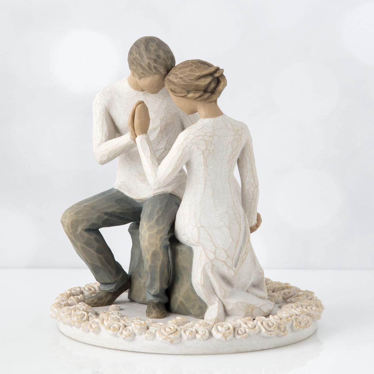 Willow Tree Around You, sculpted hand-painted cake topper by Willow Tree (Image #3)