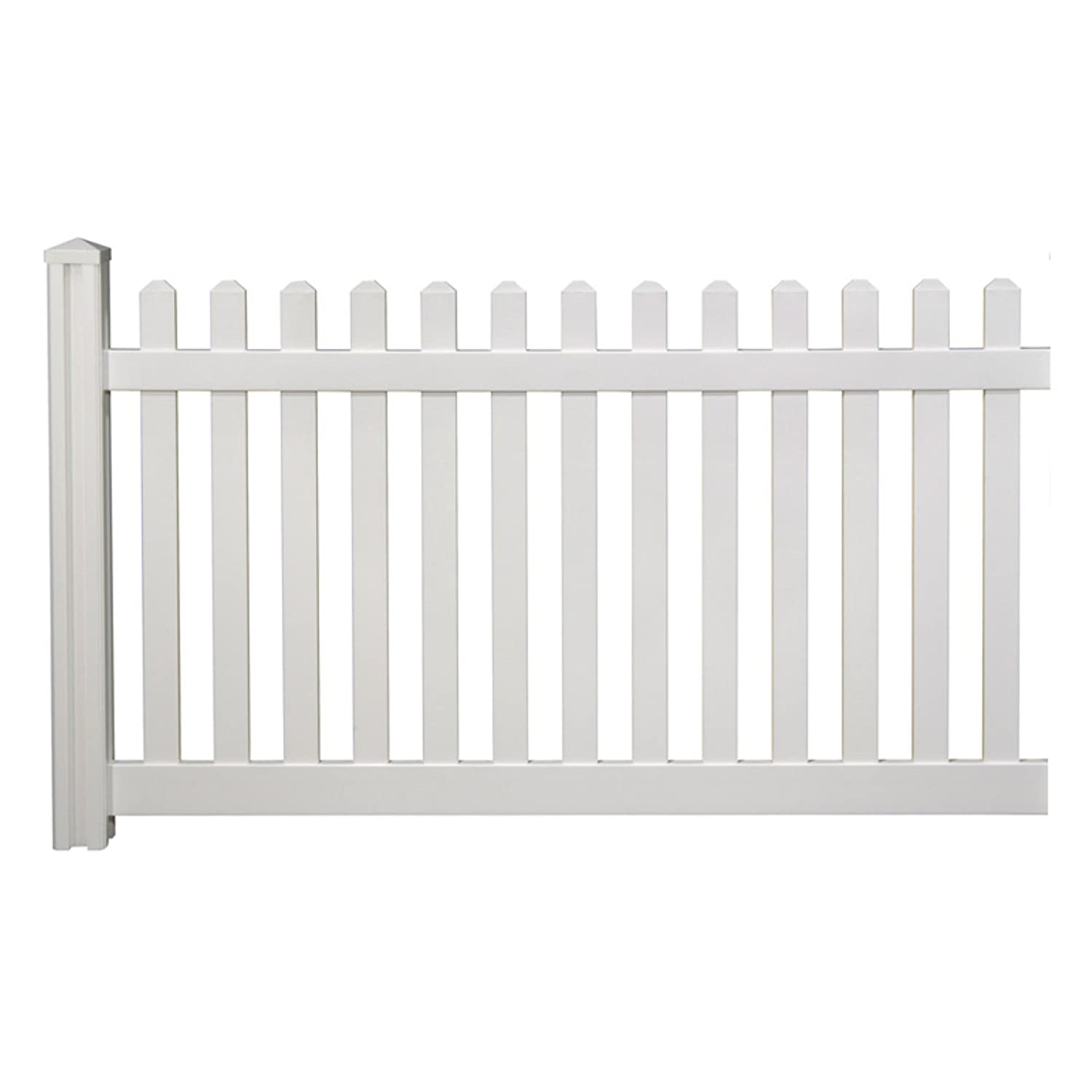 Amazon wambam traditional 4 by 7 feet premium classic vinyl amazon wambam traditional 4 by 7 feet premium classic vinyl picket fence with post and cap outdoor decorative fences patio lawn garden baanklon Images