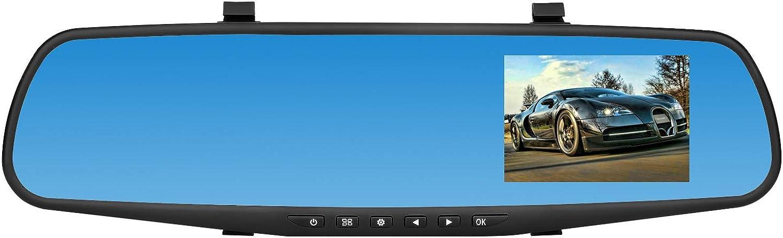 BaZhaHei Auto y Moto Accesorios 1080p HD Car Dash Camera Dual CAM Vehículo Delantero DVR Lens Video Recorder Espejo retrovisor V39 Que Conduce la grabadora con cámara Trasera