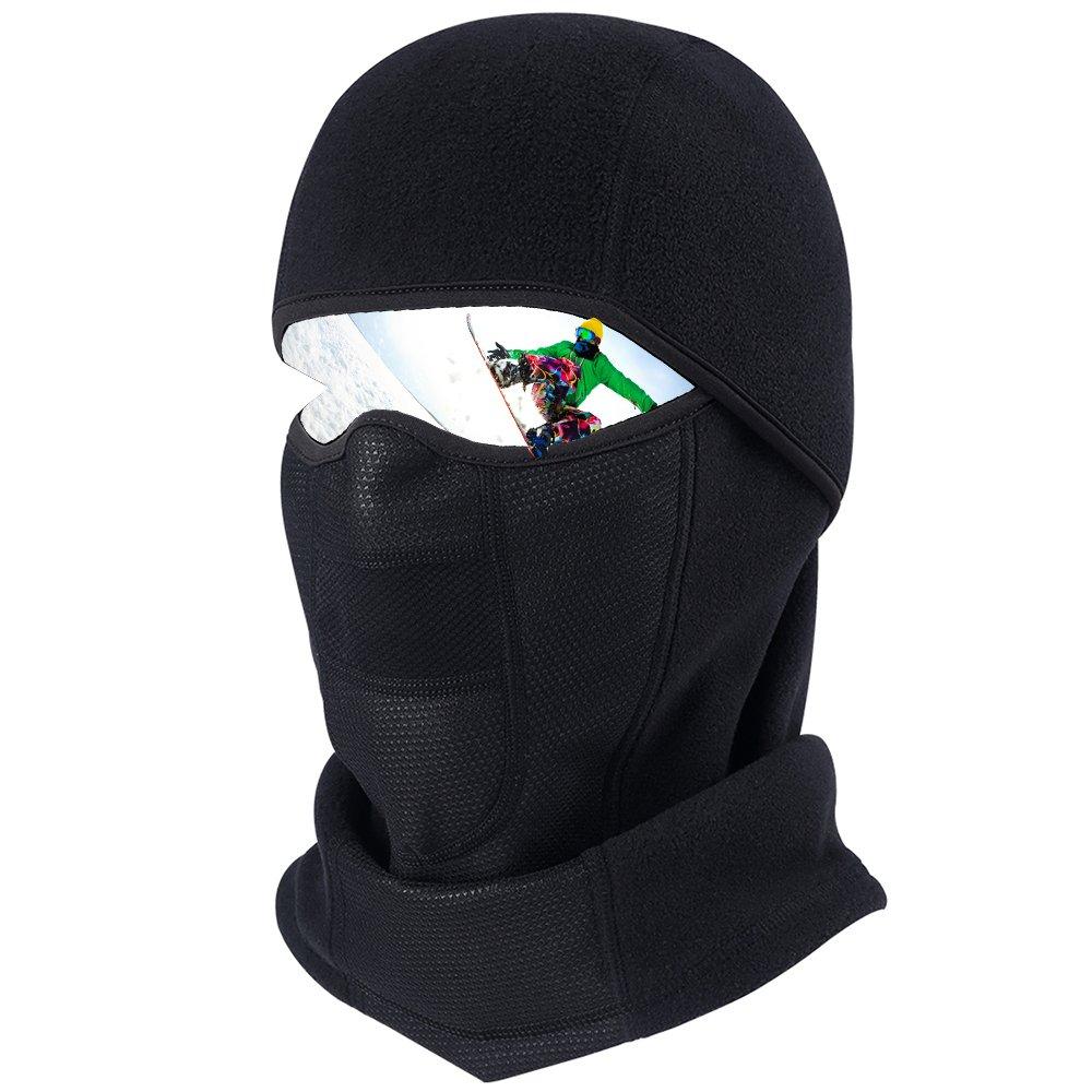 Pioneeryao Balaclava Face Mask Professinal Riding Ski Mask Windproof Thermal Full Cover Tactical Hood (Denso)