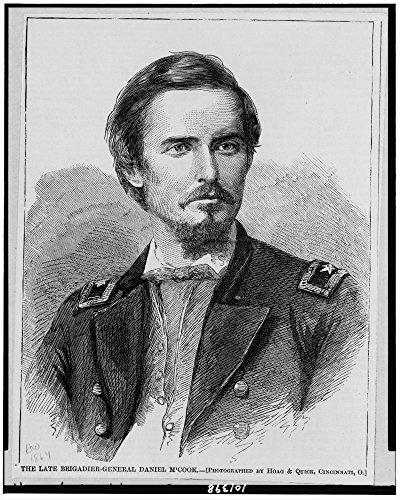 1864 Photo The late Brigadier-General Daniel M'Cook / photographed by Hoag & Quick, Cincinnati, O. Daniel M'Cook, Jr., head-and-shoulders portrait, facing right.