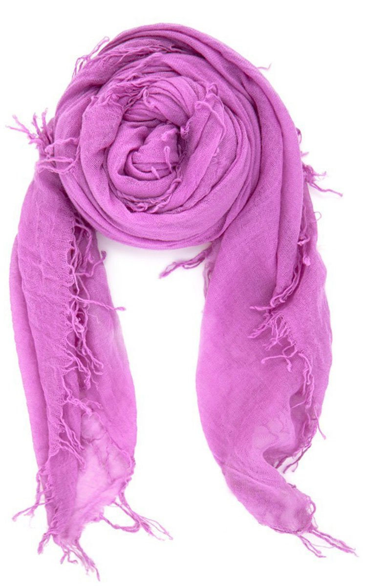 Chan Luu Womens Beautiful Cashmere & Silk Soft Scarf Shawl Wrap 62 X 58 Violet by Chan Luu