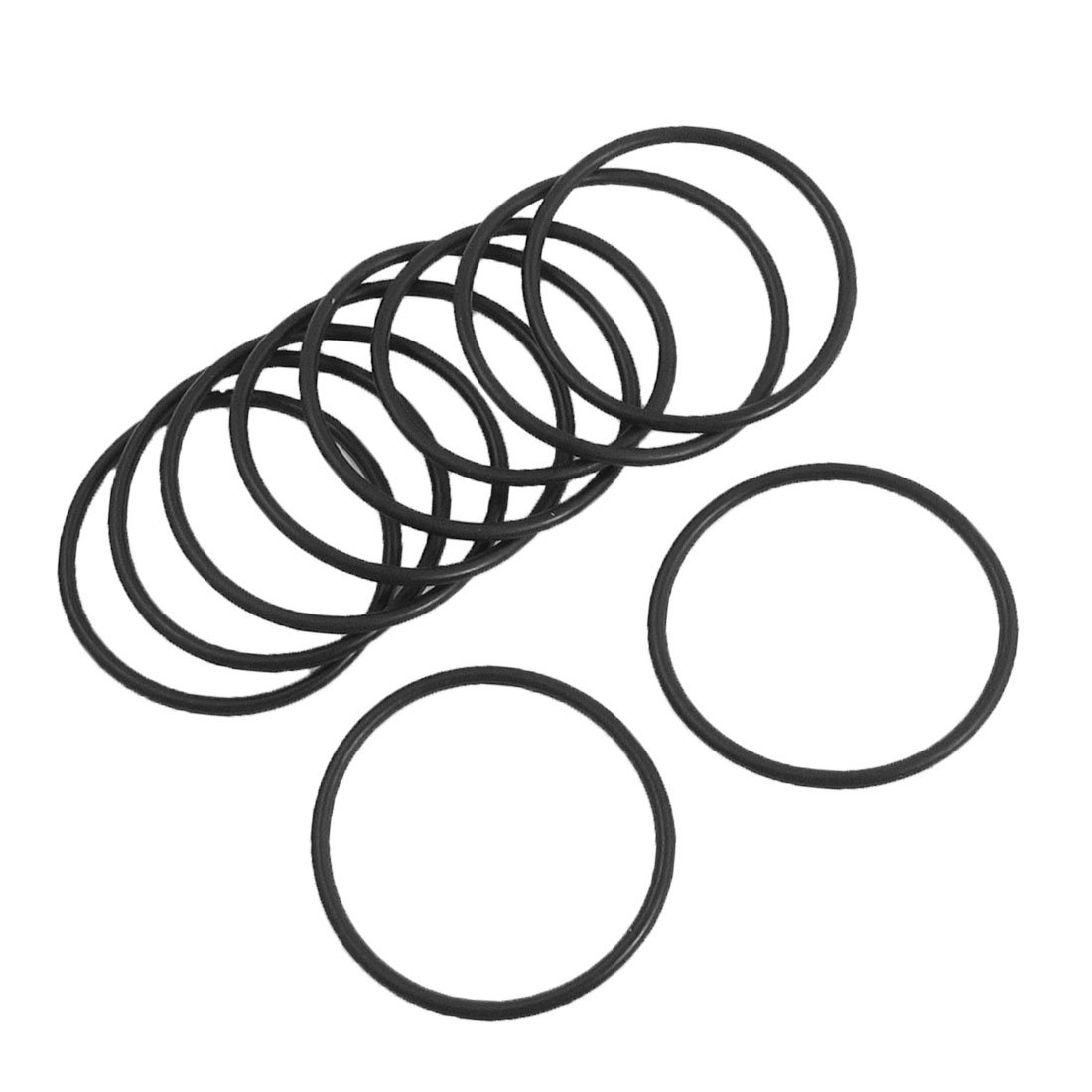 10 St/ück schwarz Nitrilgummi O-Ringe NBR Dichtung Grommets 42mm x 52mm x 5mm