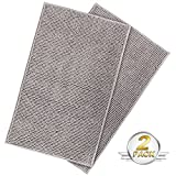 Lifewit 2 Pack 32''x20'' Bath Mat Anti Slip Microfiber Shaggy Chenille Bath Rugs Bathroom Shower Mats Rug Grey