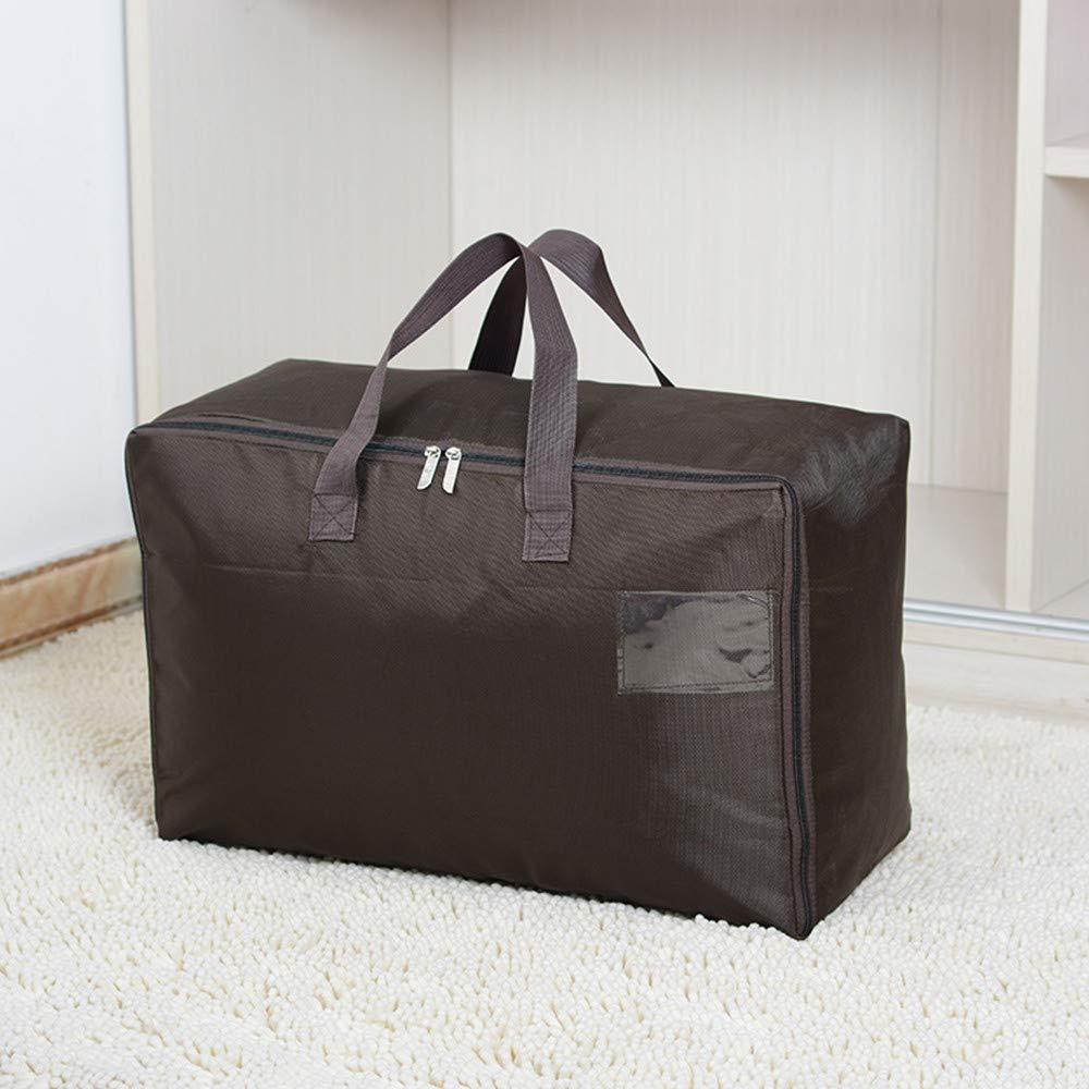 KIMIANDY 100L Waterproof Seasonal Comforters Storage Bags for Garage/Attic/Shelves, Black