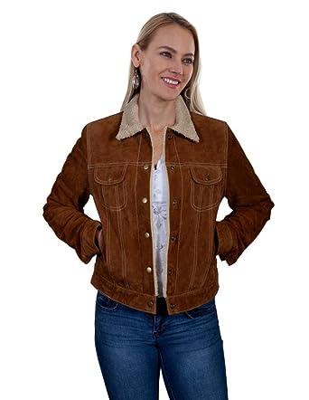 b62d92214e09f Scully Womens Raewyn Sherpa Suede Ladies Fun Little Jean Jacket at Amazon Women s  Coats Shop