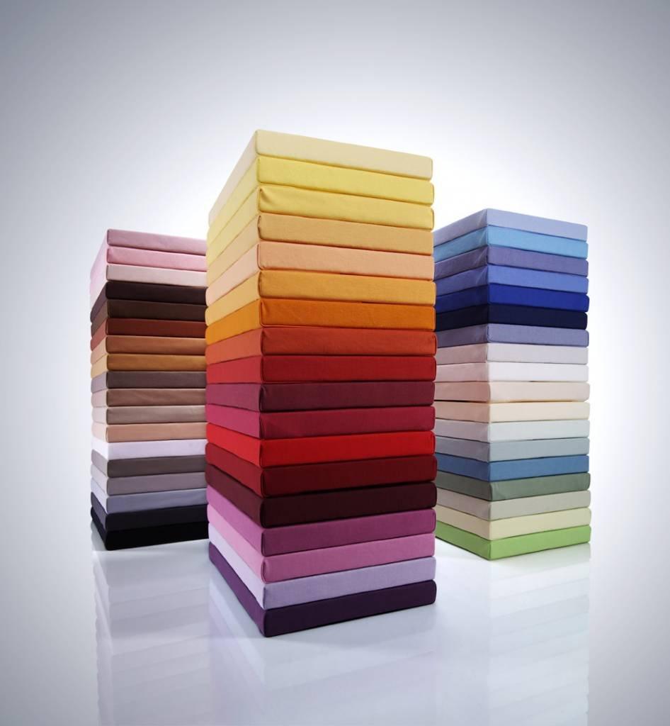 Bella Damenschuhe Jersey Spannbettlaken 180 200 - 200 220cm - 0125 (Platin)