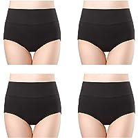 wirarpa Ladies Underwear Cotton Full Briefs High Waist Knickers Tummy Control Underwear Panties for Women Multipack
