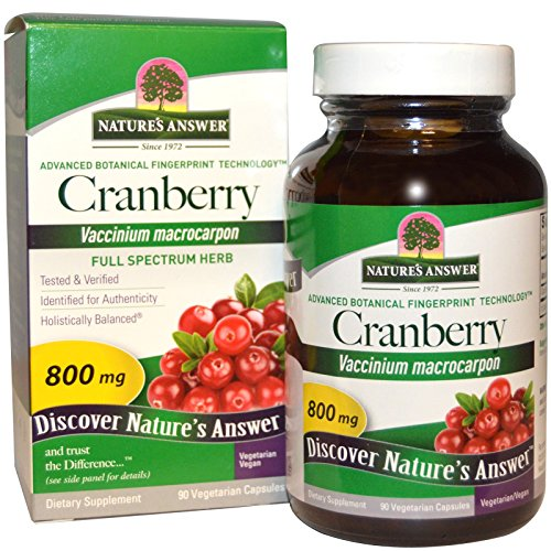 Nature's Answer, Cranberry, 800 mg, 90 Veggie Caps - 2pc