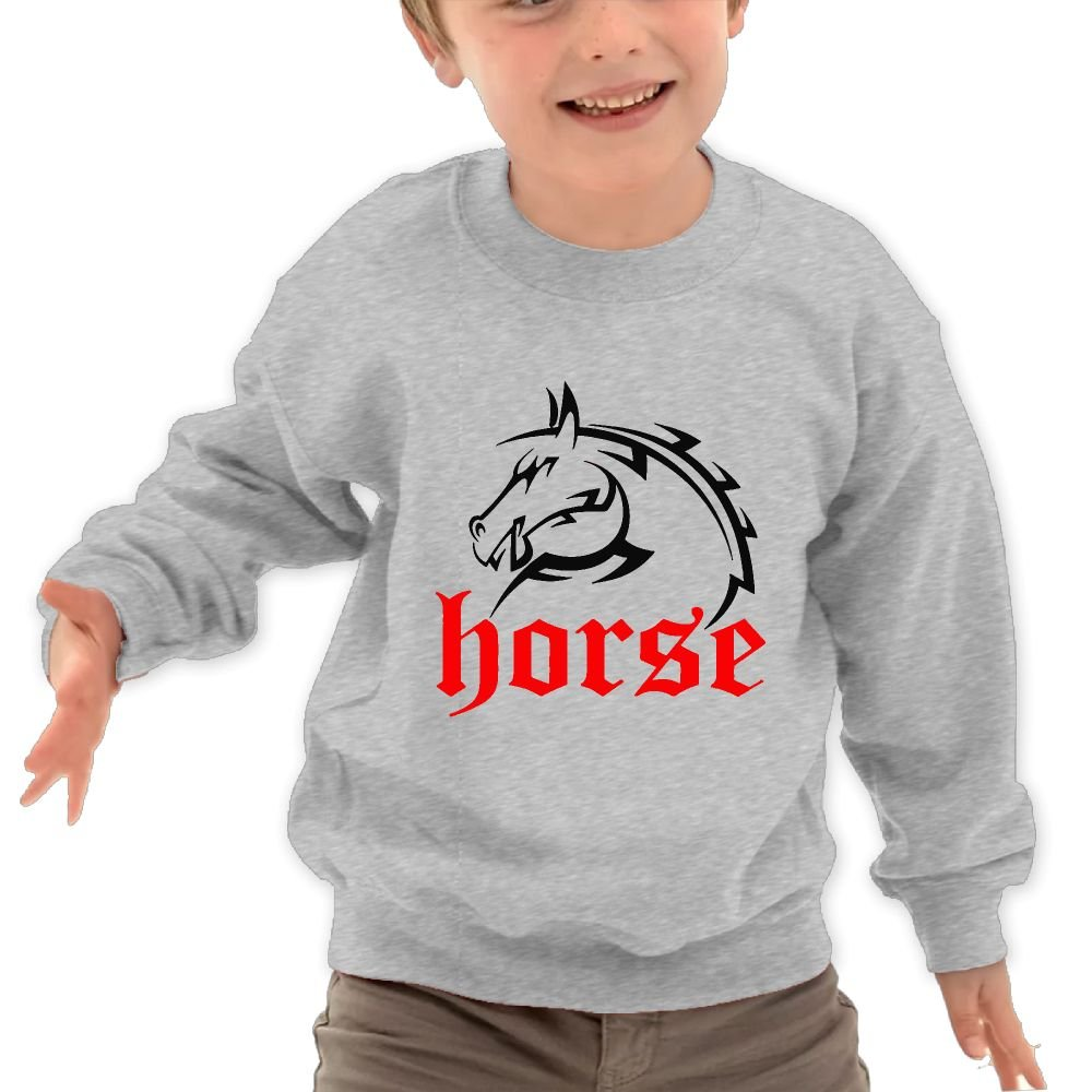 Horse Unisex Kids Cotton Pullover Lovely Long-Sleeved Sportwear