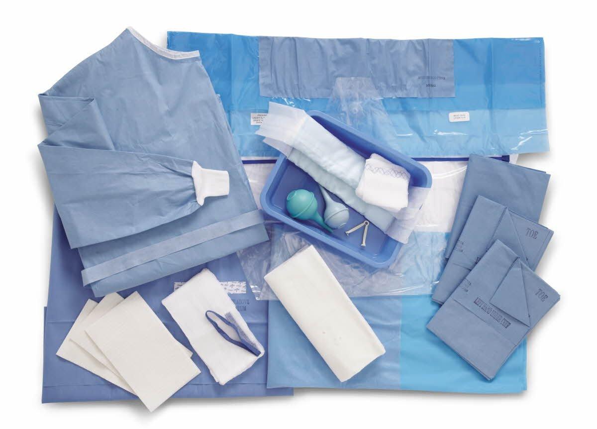 Medline DYNJP6020A Sterile Obstetrics/Gynecology Surgical Pack III, Aurora (Pack of 6)