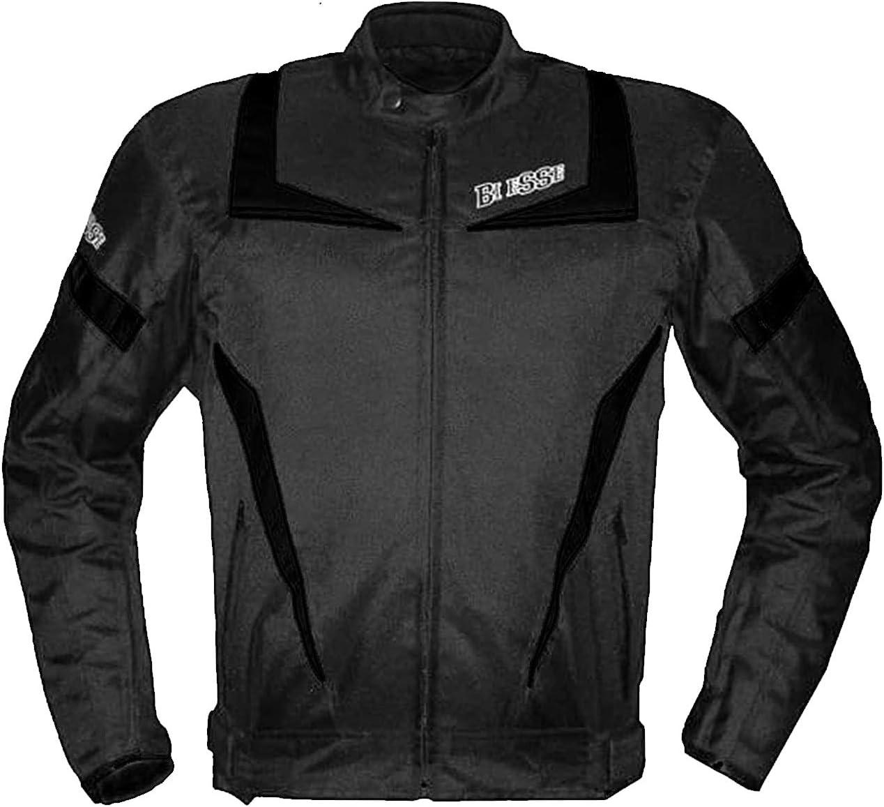 Protections CE Noir//blanc R/églable Doublure thermique XS noir//blanc Biesse Veste Moto Touring pour homme Imperm/éable