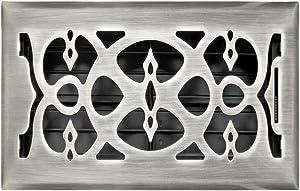Accord AMFRSNV610 Victorian Floor Register, 6-Inch x 10-Inch(Duct Opening Measurements), Satin Nickel