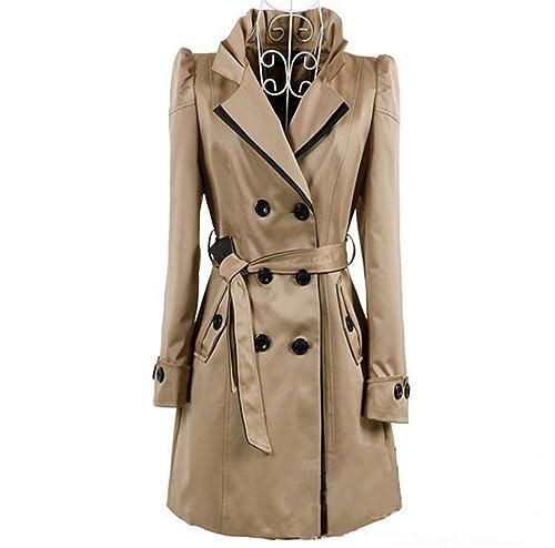 Otoño E Invierno Coreano Moda Dos De Pecho Cómoda Delgada Chaqueta De Abrigo Cálido