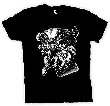 80bf2a20102e Herren T-Shirt Predator Alien - Sketch - Schwarz - L  Amazon.de ...