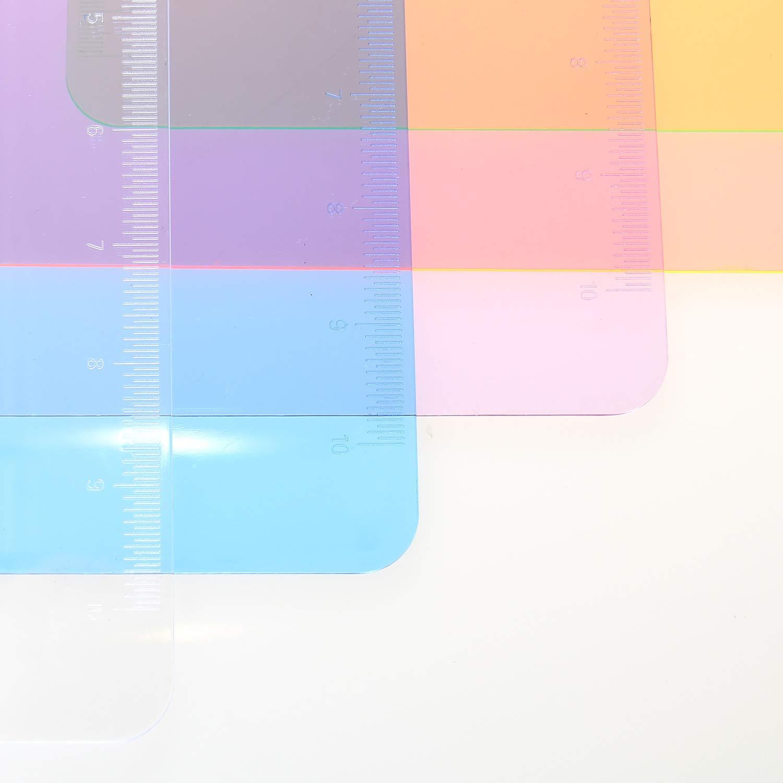 6 Pi/èces Porte-bloc A4 avec Pince TKD8000 Transparent Plastique Clip planches pour papier d/écriture Memo des dossiers 6 Couleurs Planchettes /à pince Id/éal pour le Travail Quotidien