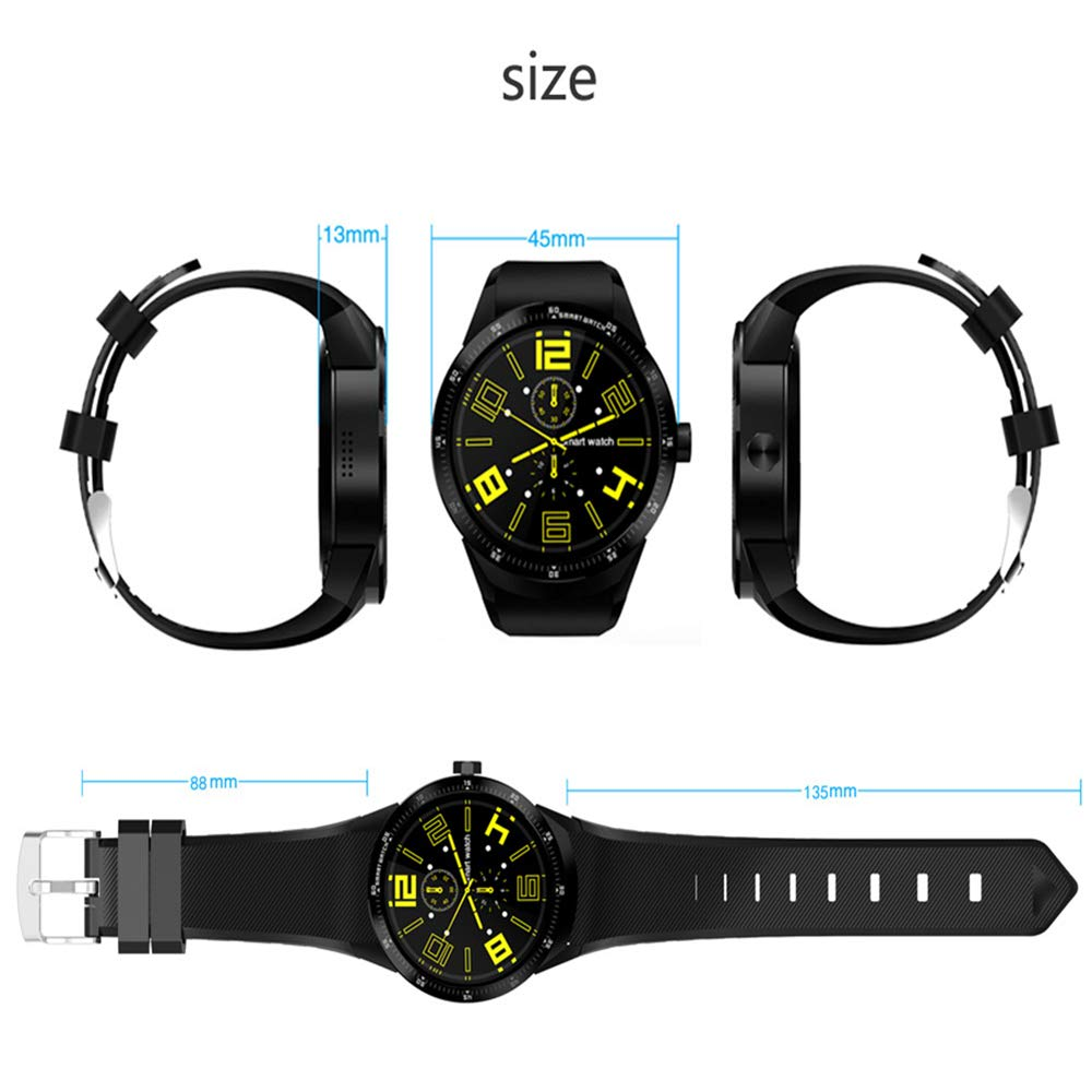 Amazon.com : WTGJZN Sport Android SmartWatch K98H Android Heart Rate Monitor 3G WiFi GPS Smart Watch Men for Samsung Gear S3 Huawei Watch 2 KW88 I4, ...