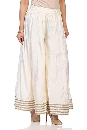 a5b839a8f1 Amazon.com: Biba Women's Off White Cotton Palazzo: Clothing